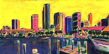 Miami's Bayside 30x15 / 2000
