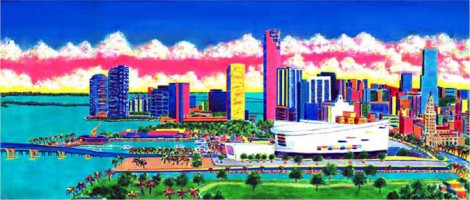 Bob's View Of Miami 60x26 / 2001