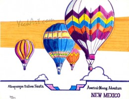 Balloon Fiesta 11x8.5 / 1992