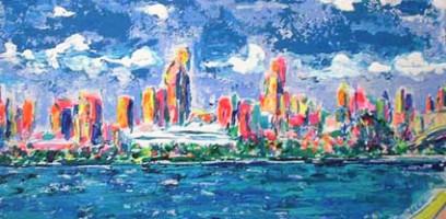 Miami Skyline 18x10 / 2002