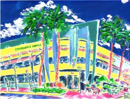 Starbucks, Lincoln Road 16x12 / 2002