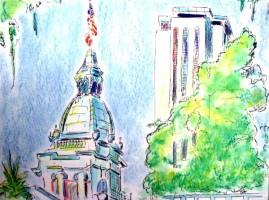Tallahassee Capitol Hill 16x12 / 2004