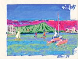 Waikiki Beach 11x8.5 / 1994
