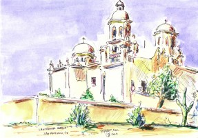 San Xavier Mission, San Antonio 10x7 / 2013